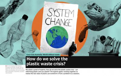 [The Guardian] Coca-Cola Australia: How do we solve the plastic waste crisis?